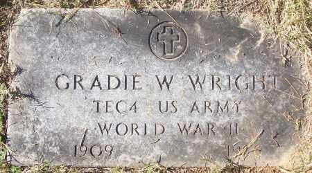 WRIGHT  (VETERAN WWII), GRADIE W - White County, Arkansas | GRADIE W WRIGHT  (VETERAN WWII) - Arkansas Gravestone Photos