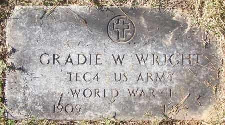 WRIGHT  (VETERAN WWII), GRADIE W - White County, Arkansas | GRADIE W WRIGHT  (VETERAN WWII) - Arkansas Gravestone Photos
