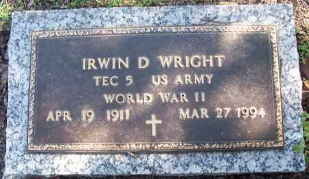 WRIGHT (VETERAN WWII), IRWIN D - White County, Arkansas | IRWIN D WRIGHT (VETERAN WWII) - Arkansas Gravestone Photos
