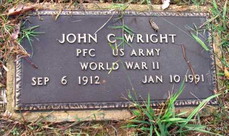 WRIGHT (VETERAN WWII), JOHN C - White County, Arkansas | JOHN C WRIGHT (VETERAN WWII) - Arkansas Gravestone Photos