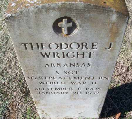 WRIGHT (VETERAN WWII), THEODORE J - White County, Arkansas | THEODORE J WRIGHT (VETERAN WWII) - Arkansas Gravestone Photos