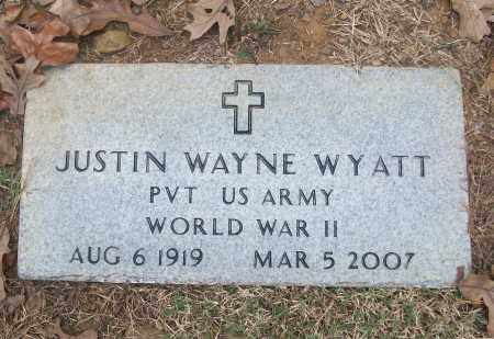 WYATT  (VETERAN WWII), JUSTIN WAYNE - White County, Arkansas | JUSTIN WAYNE WYATT  (VETERAN WWII) - Arkansas Gravestone Photos
