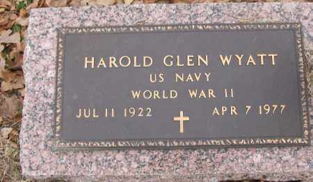 WYATT (VETERAN WWII), HAROLD GLEN - White County, Arkansas | HAROLD GLEN WYATT (VETERAN WWII) - Arkansas Gravestone Photos