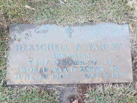 YANCEY  (VETERAN 2 WARS), HERSCHELL A - White County, Arkansas | HERSCHELL A YANCEY  (VETERAN 2 WARS) - Arkansas Gravestone Photos