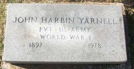 YARNELL  (VETERAN WWI), JOHN HARBIN - White County, Arkansas | JOHN HARBIN YARNELL  (VETERAN WWI) - Arkansas Gravestone Photos