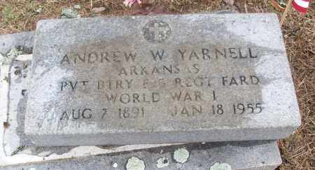 YARNELL  (VETERAN WWI), ANDREW W - White County, Arkansas | ANDREW W YARNELL  (VETERAN WWI) - Arkansas Gravestone Photos