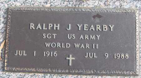 YEARBY (VETERAN WWII), RALPH J - White County, Arkansas | RALPH J YEARBY (VETERAN WWII) - Arkansas Gravestone Photos