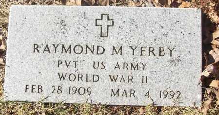 YERBY  (VETERAN WWII), RAYMOND M - White County, Arkansas | RAYMOND M YERBY  (VETERAN WWII) - Arkansas Gravestone Photos