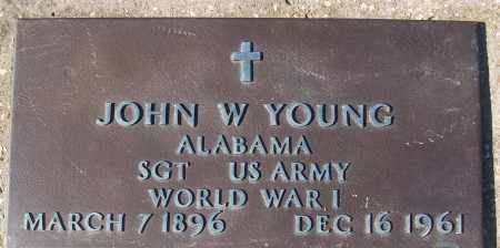 YOUNG (VETERAN WWI), JOHN W - White County, Arkansas | JOHN W YOUNG (VETERAN WWI) - Arkansas Gravestone Photos