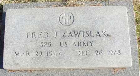 ZAWISLAK  (VETERAN), FRED J - White County, Arkansas | FRED J ZAWISLAK  (VETERAN) - Arkansas Gravestone Photos