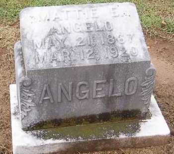 ANGELO, MATTIE E. - Woodruff County, Arkansas | MATTIE E. ANGELO - Arkansas Gravestone Photos