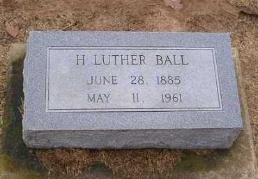 BALL, H. LUTHER - Woodruff County, Arkansas | H. LUTHER BALL - Arkansas Gravestone Photos