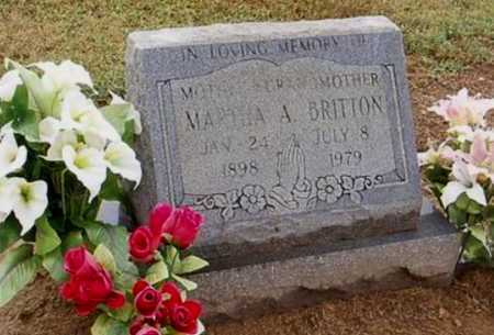 BRITTON, MARTHA A. - Woodruff County, Arkansas | MARTHA A. BRITTON - Arkansas Gravestone Photos