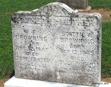 BROWNING, STATTIE A. - Woodruff County, Arkansas | STATTIE A. BROWNING - Arkansas Gravestone Photos