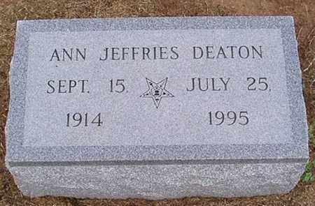 JEFFRIES DEATON, ANN - Woodruff County, Arkansas | ANN JEFFRIES DEATON - Arkansas Gravestone Photos