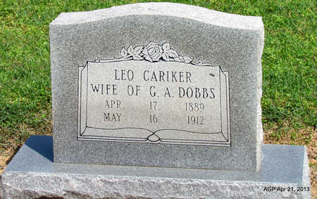 CARIKER DOBBS, LEO - Woodruff County, Arkansas | LEO CARIKER DOBBS - Arkansas Gravestone Photos