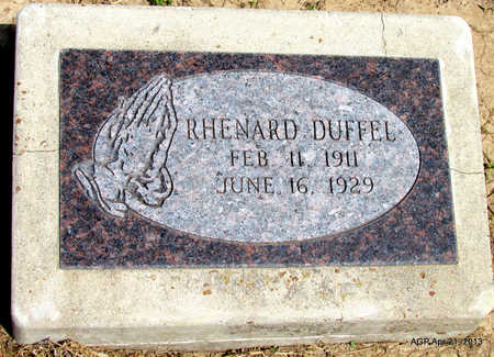 DUFFEL, RHENARD - Woodruff County, Arkansas | RHENARD DUFFEL - Arkansas Gravestone Photos