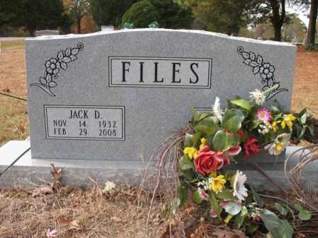 FILES, JACK D - Woodruff County, Arkansas | JACK D FILES - Arkansas Gravestone Photos