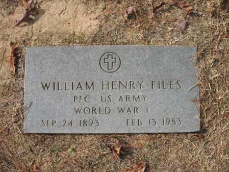 FILES (VETERAN WWI), WILLIAM HENRY - Woodruff County, Arkansas | WILLIAM HENRY FILES (VETERAN WWI) - Arkansas Gravestone Photos