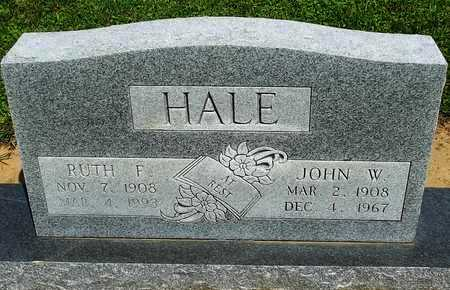 HALE, JOHN W. - Woodruff County, Arkansas | JOHN W. HALE - Arkansas Gravestone Photos