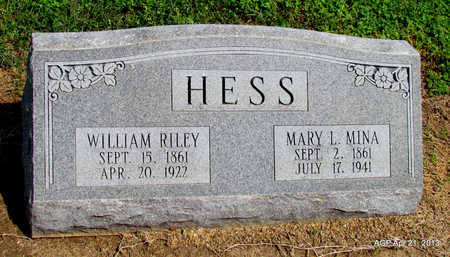 MINA HESS, MARY L. - Woodruff County, Arkansas | MARY L. MINA HESS - Arkansas Gravestone Photos