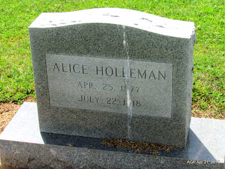 HOLLEMAN, ALICE - Woodruff County, Arkansas | ALICE HOLLEMAN - Arkansas Gravestone Photos