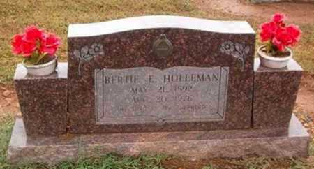 HOLLEMAN, BERTIE E. - Woodruff County, Arkansas | BERTIE E. HOLLEMAN - Arkansas Gravestone Photos
