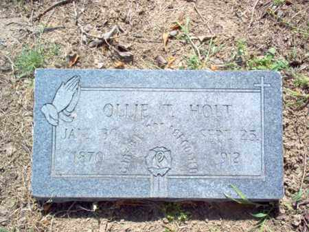 HOLT, OLLIE T - Woodruff County, Arkansas | OLLIE T HOLT - Arkansas Gravestone Photos