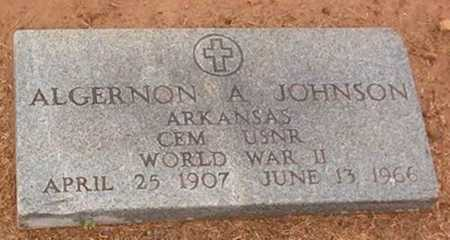 JOHNSON  (VETERAN WWII), ALGERNON A - Woodruff County, Arkansas | ALGERNON A JOHNSON  (VETERAN WWII) - Arkansas Gravestone Photos