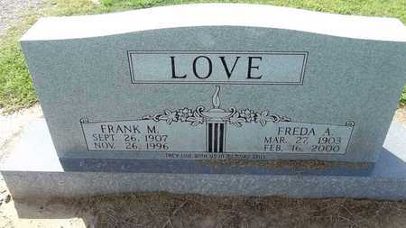 LOVE, FREDA A. - Woodruff County, Arkansas | FREDA A. LOVE - Arkansas Gravestone Photos
