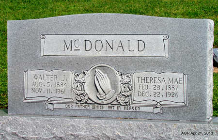 MCDONALD, WALTER J. - Woodruff County, Arkansas | WALTER J. MCDONALD - Arkansas Gravestone Photos