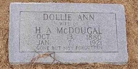 MCDOUGAL, DOLLIE ANN - Woodruff County, Arkansas | DOLLIE ANN MCDOUGAL - Arkansas Gravestone Photos