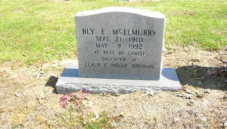 MCELMURRY, BLY E. - Woodruff County, Arkansas | BLY E. MCELMURRY - Arkansas Gravestone Photos