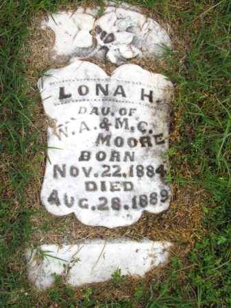 MOORE, LONA H - Woodruff County, Arkansas | LONA H MOORE - Arkansas Gravestone Photos