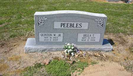 PEEBLES, JR, QUINTON W - Woodruff County, Arkansas | QUINTON W PEEBLES, JR - Arkansas Gravestone Photos