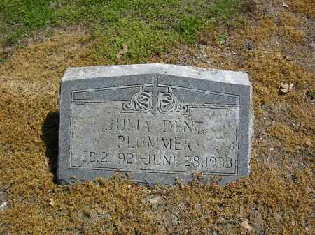 PLUMMER, JULIA DENT - Woodruff County, Arkansas | JULIA DENT PLUMMER - Arkansas Gravestone Photos