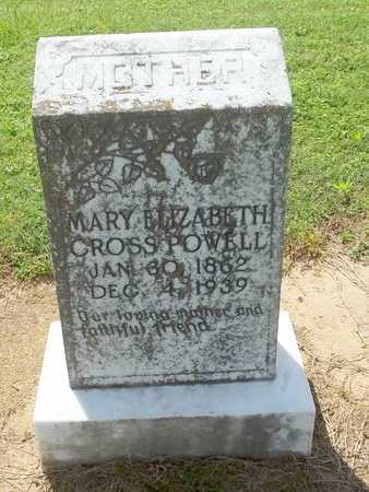 CROSS POWELL, MARY ELIZABETH - Woodruff County, Arkansas | MARY ELIZABETH CROSS POWELL - Arkansas Gravestone Photos