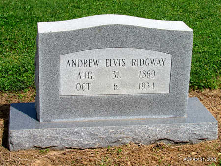 RIDGWAY, ANDREW ELVIS - Woodruff County, Arkansas | ANDREW ELVIS RIDGWAY - Arkansas Gravestone Photos