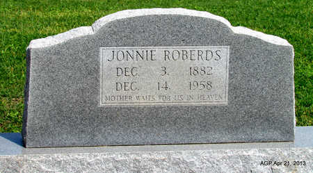 ROBERDS, JONNIE - Woodruff County, Arkansas | JONNIE ROBERDS - Arkansas Gravestone Photos