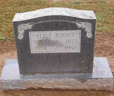 ROOKS, ALICE - Woodruff County, Arkansas | ALICE ROOKS - Arkansas Gravestone Photos