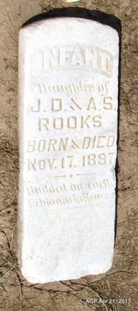 ROOKS, INFANT DAUGHTER - Woodruff County, Arkansas | INFANT DAUGHTER ROOKS - Arkansas Gravestone Photos