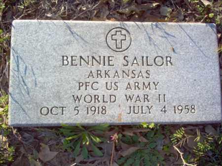 SAILOR (VETERAN WWII), BENNIE - Woodruff County, Arkansas | BENNIE SAILOR (VETERAN WWII) - Arkansas Gravestone Photos