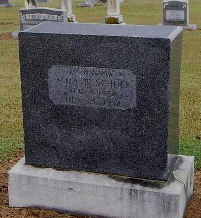 SCHUPP, ALMA B. - Woodruff County, Arkansas | ALMA B. SCHUPP - Arkansas Gravestone Photos