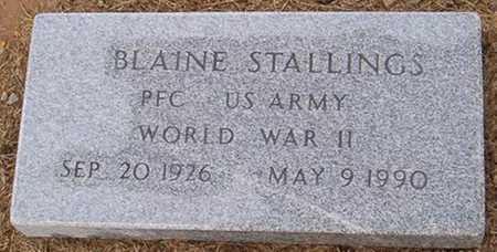 STALLINGS  (VETERAN WWII), BLAINE - Woodruff County, Arkansas | BLAINE STALLINGS  (VETERAN WWII) - Arkansas Gravestone Photos