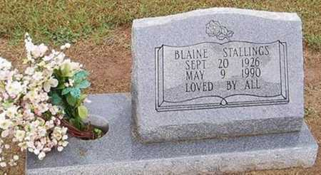 STALLINGS, BLAINE - Woodruff County, Arkansas | BLAINE STALLINGS - Arkansas Gravestone Photos