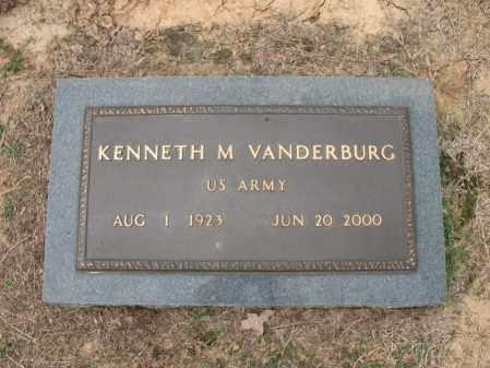 VANDERBURG (VETERAN), KENNETH M - Woodruff County, Arkansas | KENNETH M VANDERBURG (VETERAN) - Arkansas Gravestone Photos