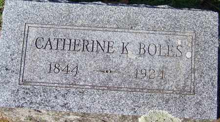 BOLES, CATHERINE K - Yell County, Arkansas | CATHERINE K BOLES - Arkansas Gravestone Photos