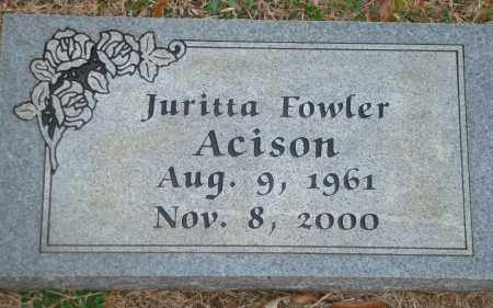 FOWLER ACISON, JURITTA - Yell County, Arkansas | JURITTA FOWLER ACISON - Arkansas Gravestone Photos