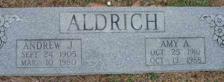 ALDRICH, ANDREW J. - Yell County, Arkansas | ANDREW J. ALDRICH - Arkansas Gravestone Photos