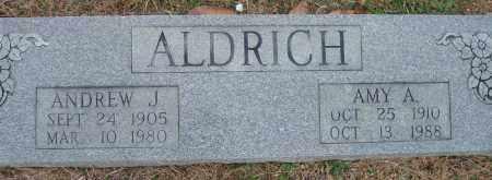 ALDRICH, ANDREW J. - Yell County, Arkansas | ANDREW J. ALDRICH - Arkansas Gravestone Photos
